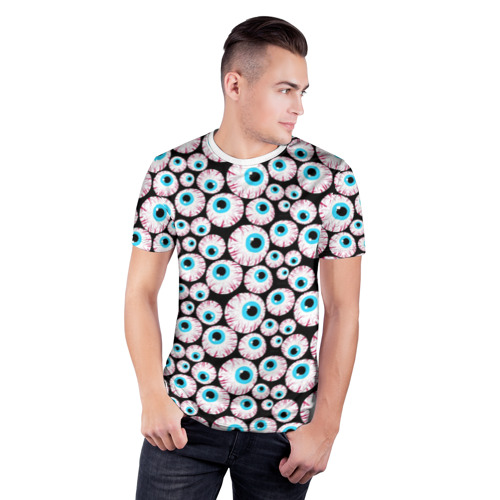 Мужская футболка 3D спортивная  Фото 03, Глазастик