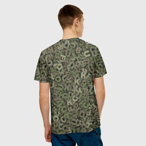 Мужская футболка 3D  Фото 02, Камуфляж с буквами