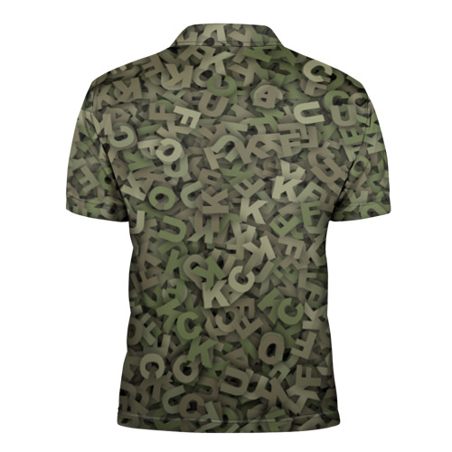 Мужская рубашка поло 3D  Фото 02, Камуфляж с буквами