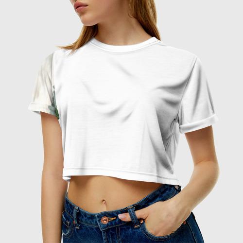 Женская футболка 3D укороченная  Фото 01, BATTLEFIELD 1