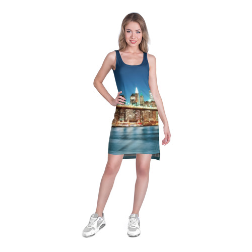 Платье-майка 3D  Фото 03, Огни ночного города