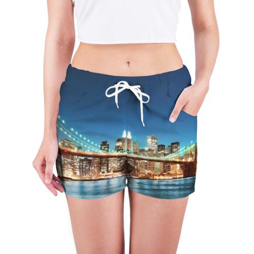 Женские шорты 3D  Фото 03, Огни ночного города