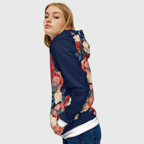 Женская толстовка 3D Fashion flowers Фото 01
