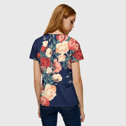 Женская футболка 3D Fashion flowers Фото 01