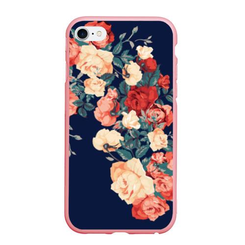 Чехол для iPhone 6Plus/6S Plus матовый Fashion flowers Фото 01