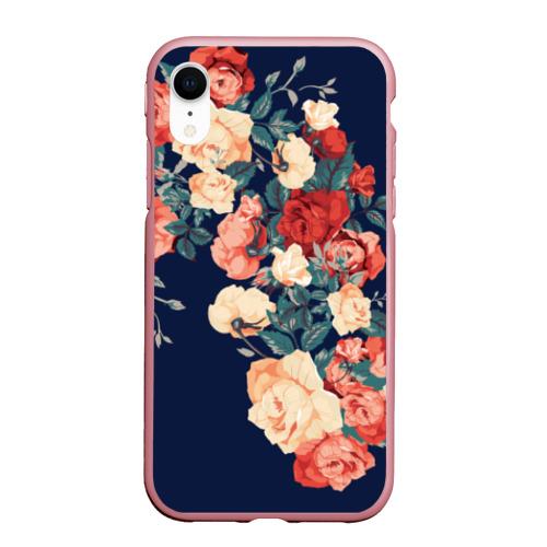Чехол для iPhone XR матовый Fashion flowers Фото 01