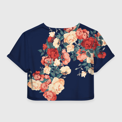 Женская футболка Crop-top 3D Fashion flowers Фото 01