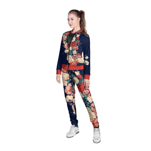 Женская олимпийка 3D Fashion flowers Фото 01