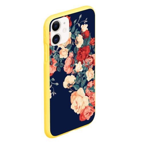 Чехол для iPhone 11 матовый Fashion flowers Фото 01