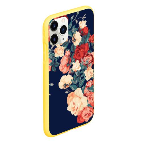 Чехол для iPhone 11 Pro матовый Fashion flowers Фото 01