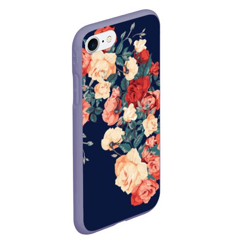 Чехол для iPhone 7/8 матовый Fashion flowers Фото 01