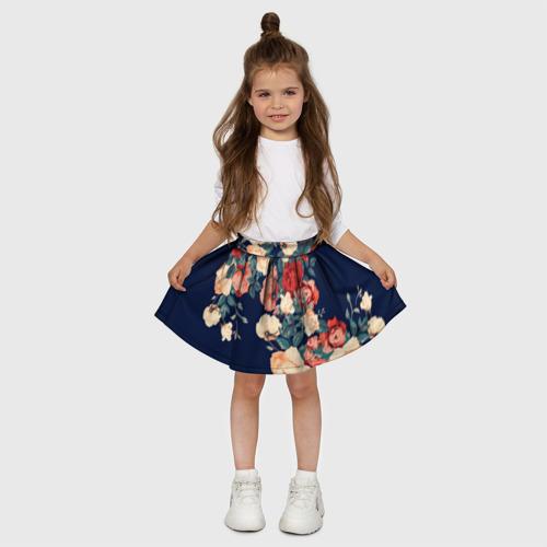 Детская юбка-солнце 3D Fashion flowers Фото 01