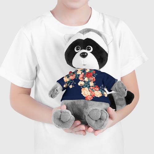 Енотик в футболке 3D Fashion flowers Фото 01
