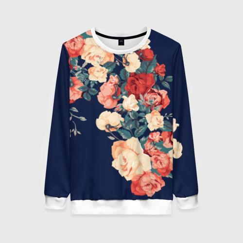 Женский свитшот 3D Fashion flowers Фото 01