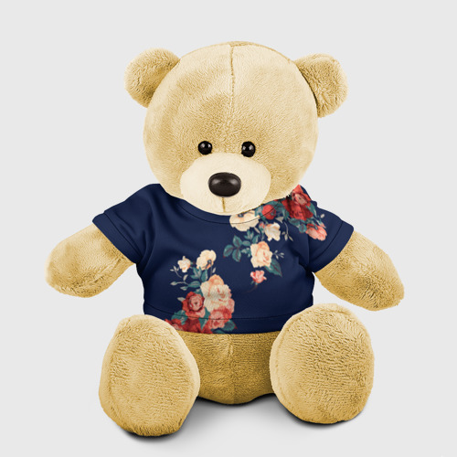Игрушка Мишка в футболке 3D Fashion flowers Фото 01