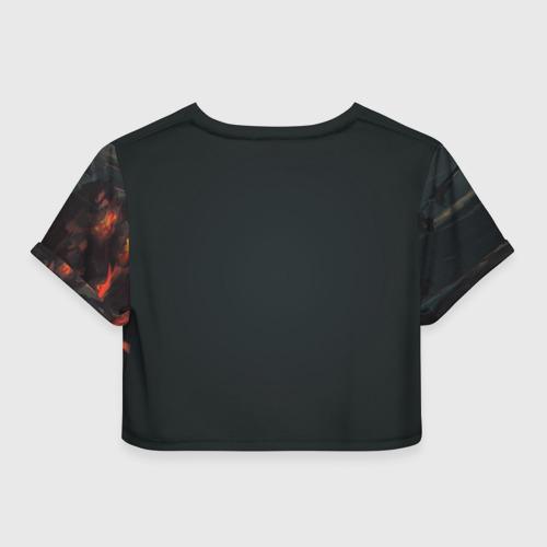 Женская футболка 3D укороченная  Фото 02, Лиса