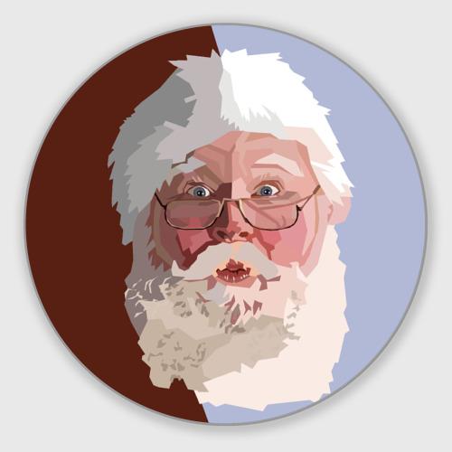 Коврик для мышки круглый  Фото 01, Санта Клаус в стиле WPAP