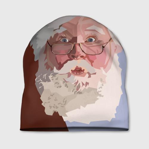 Шапка 3D  Фото 01, Санта Клаус в стиле WPAP