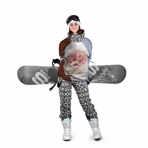 Накидка на куртку 3D  Фото 05, Санта Клаус в стиле WPAP