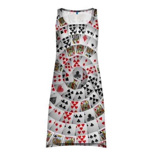 Платье-майка 3D  Фото 01, Игральные карты 3