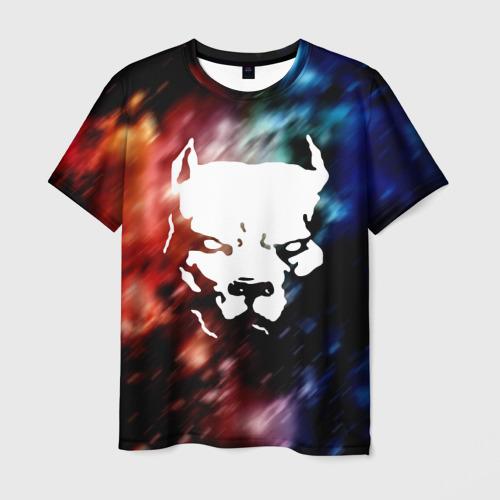 Мужская футболка 3D  Фото 01, Стаффордширский терьер
