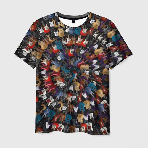 Мужская футболка 3D  Фото 03, Электро гитары 2
