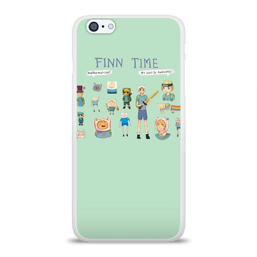 Чехол для Apple iPhone 6Plus/6SPlus силиконовый глянцевый  Фото 01, Finn Time