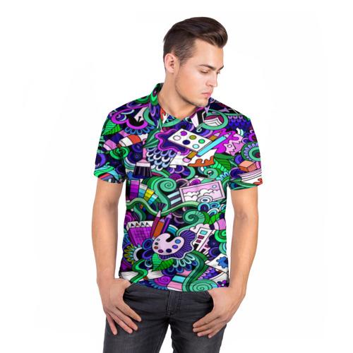 Мужская рубашка поло 3D  Фото 05, Bombing