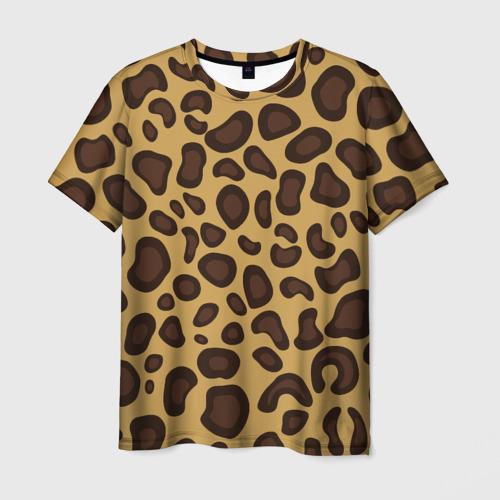 Мужская футболка 3D  Фото 01, Шкура леопарда