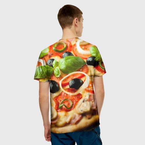 Мужская футболка 3D  Фото 02, Пицца