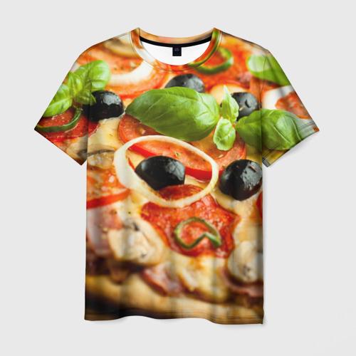 Мужская футболка 3D  Фото 01, Пицца