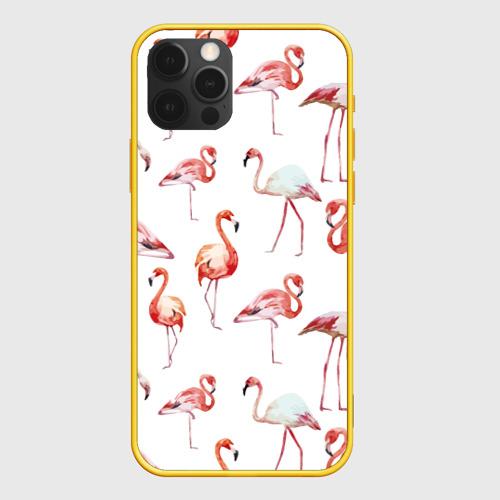 Чехол для iPhone 12 Pro Max Узор из фламинго Фото 01