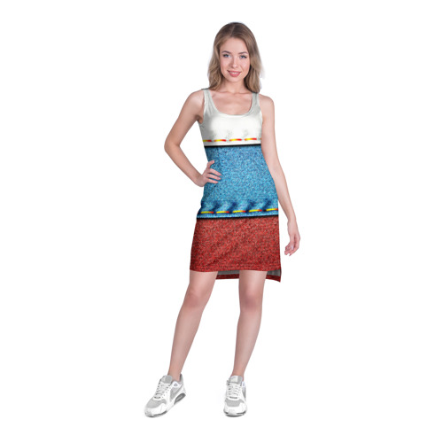 Платье-майка 3D  Фото 03, Триколор