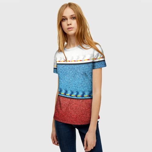 Женская футболка 3D Триколор Фото 01