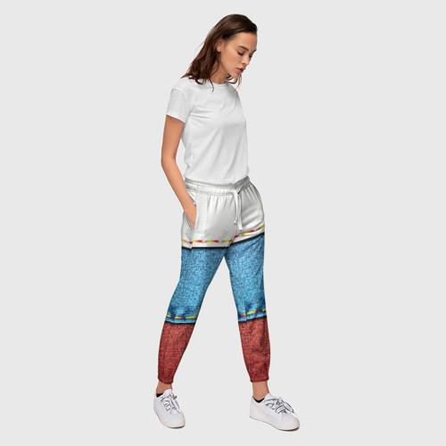 Женские брюки 3D  Фото 03, Триколор
