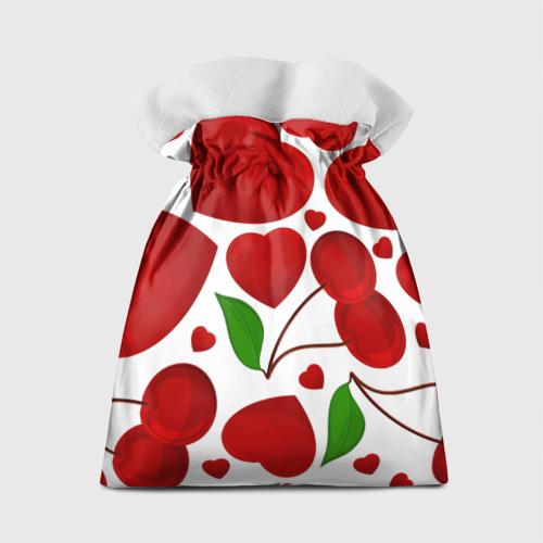 Подарочный 3D мешок  Фото 02, сердце и вишня