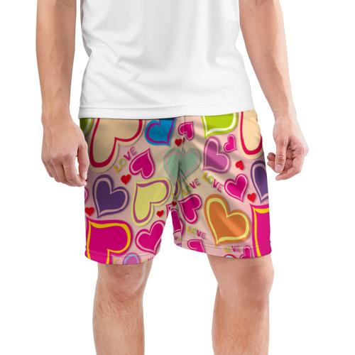 Мужские шорты 3D спортивные  Фото 03, Меньше чем три