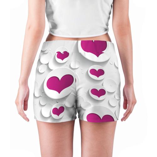 Женские шорты 3D  Фото 04, серца