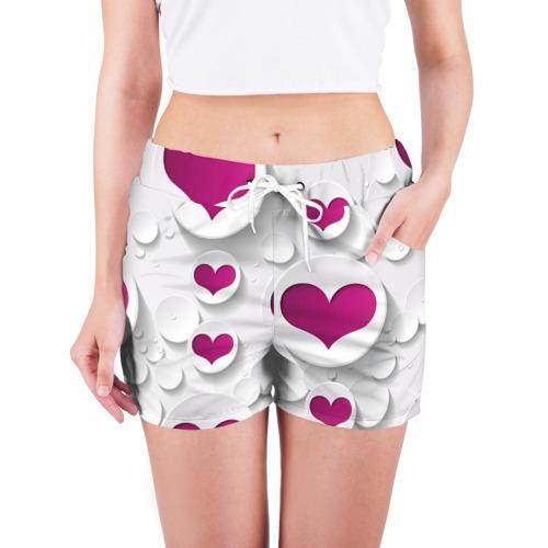 Женские шорты 3D  Фото 03, серца