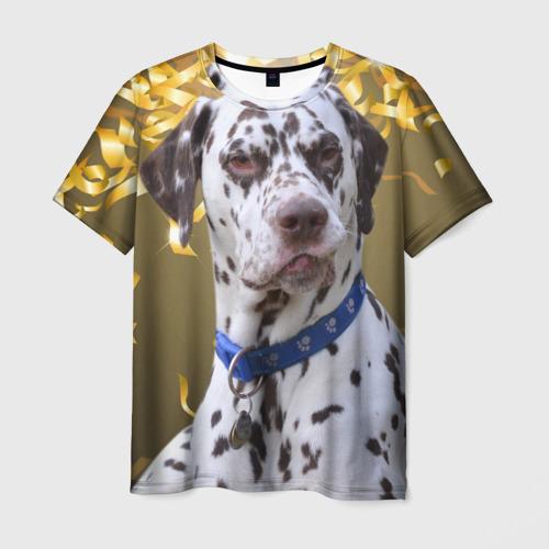 Мужская футболка 3D  Фото 03, Скептический далматин