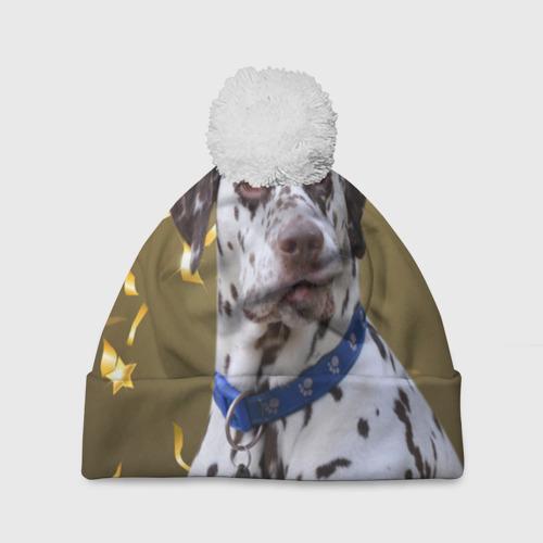 Шапка 3D c помпоном  Фото 01, Скептический далматин