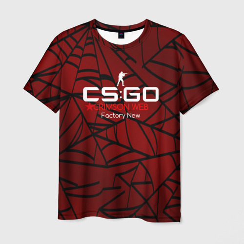 Мужская футболка 3D  Фото 01, cs:go - Crimson Web Style Factory New (Кровавая паутина | Прям с завода)