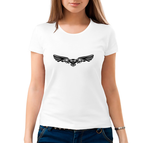 Женская футболка хлопок  Фото 03, Сова трайбл