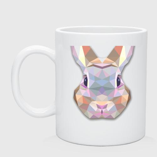 Кружка  Фото 01, Полигональный кролик