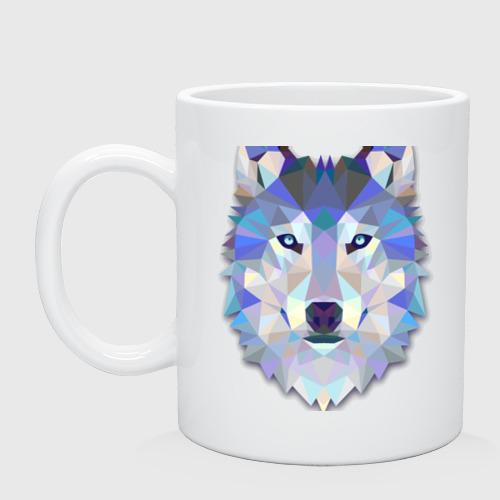 Кружка  Фото 01, Полигональный волк