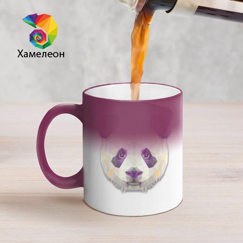 Кружка хамелеон  Фото 05, Полигональная панда