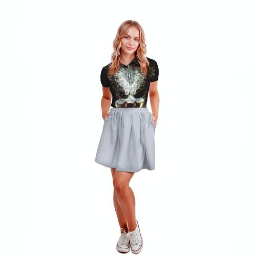 Женская рубашка поло 3D  Фото 04, Хищник