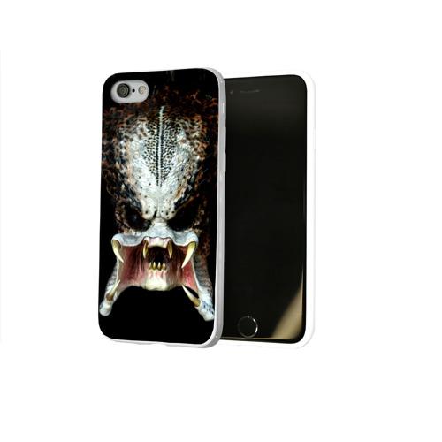 Чехол для Apple iPhone 8 силиконовый глянцевый  Фото 02, Хищник