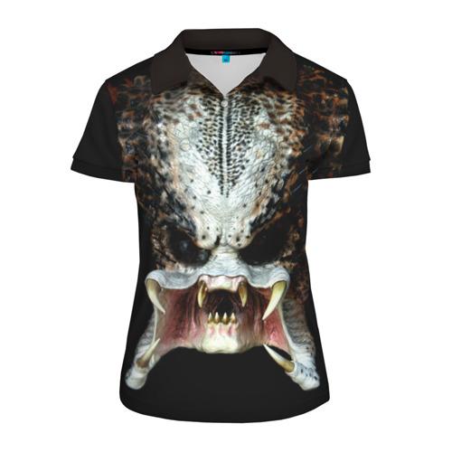 Женская рубашка поло 3D  Фото 01, Хищник