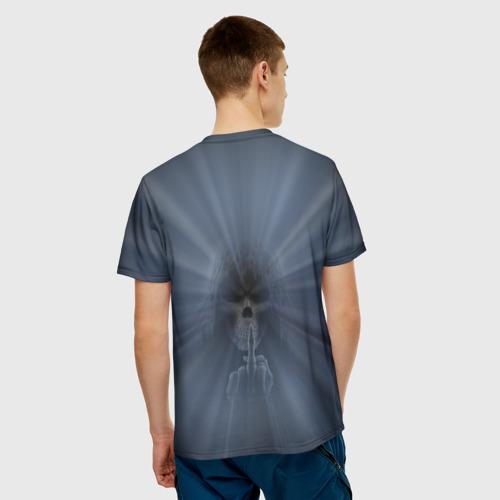 Мужская футболка 3D  Фото 02, Череп в капюшоне 2